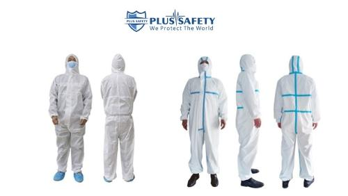DISPOSABLE SURGICAL COVERALL WITH HOOD PROTECTIVE SUIT