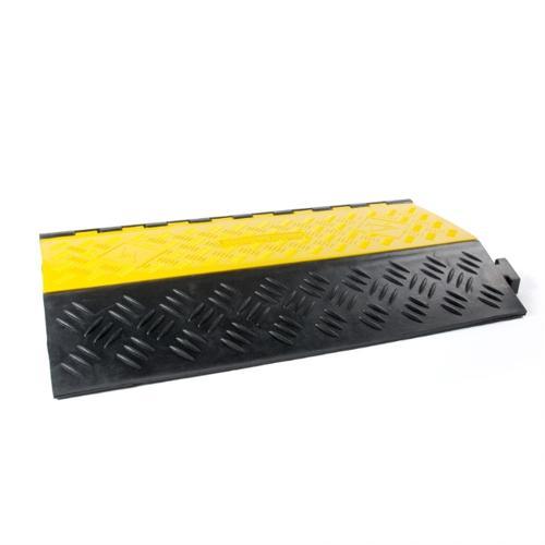 Kabelbrücke 2 Kanäle schwarz/gelb 901x610x102mm