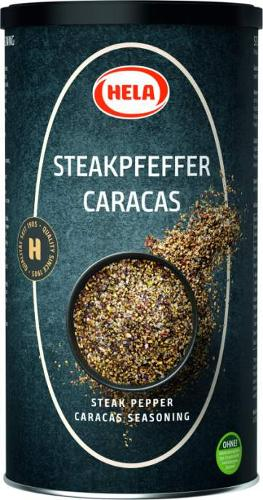 Hela Steak Pepper Caracas 800g. Grill pieces. Spices.