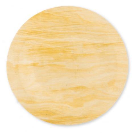 Тарелка деревянная одноразовая
