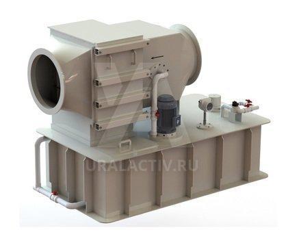 Scrubber, gas washer made of polypropylene