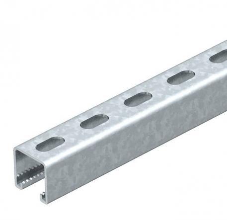 Heavy-duty C-profile rail for individual installation.