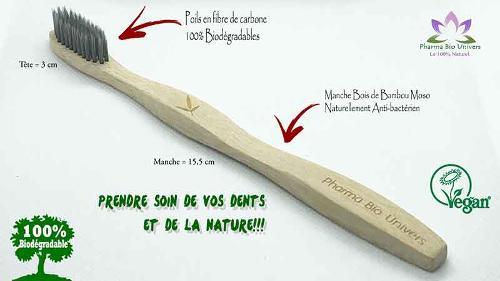 Brosses à dents bois de bambou MOSO