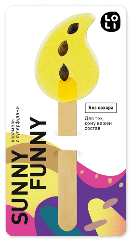 Gourmet Lollipops LO-LI «Sunny Funny» sugar free