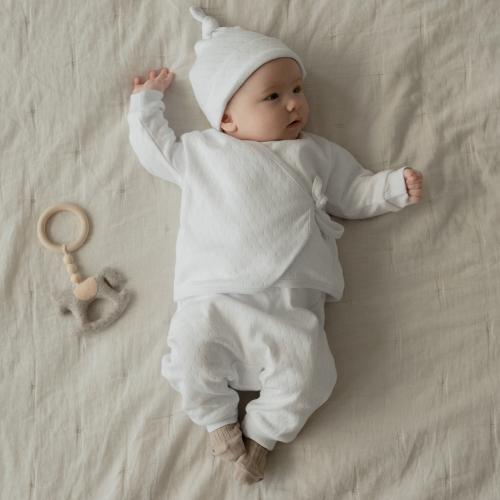 Openwork Cotton Pants White