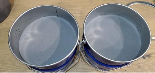 Quasicrystalline powder AlCuFe; AlCuFe + B; AlCuFe + Si