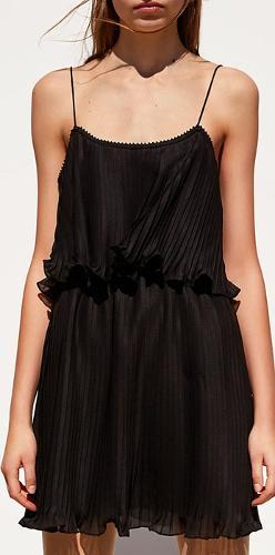 viscos crepe pleated dress