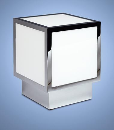 Бронзовый кубический светильник