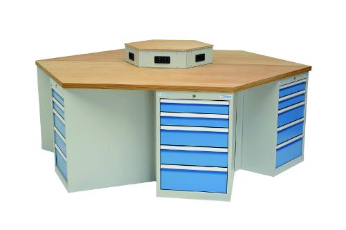 hexagonal workbench