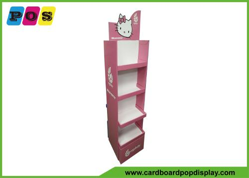 Two sided paperboard Floor shelf display