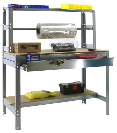 Etabli atelier table d'emballage avec tiroir