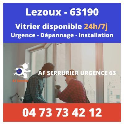 Vitrier à Lezoux 24h/24 et 7j/7