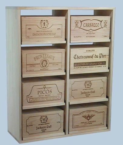 Botellero en pino para  Cajas de 6 botellas