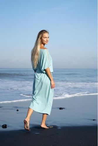 Evergreen oversized dress