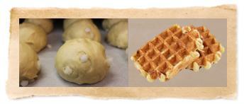 Les pâtons pour gaufre de liège
