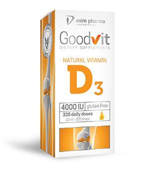 Goodvit Natural Vitamin D3 4000 – drops