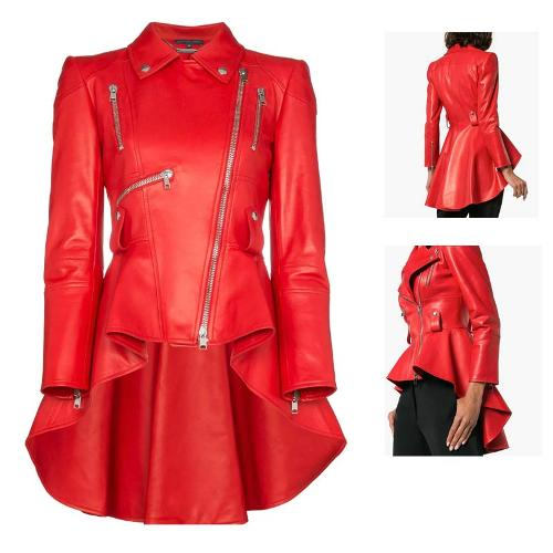 Women fashion  real leather jacktes