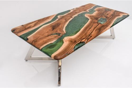 Epoksi Masa Tasarım Yeşil Renk