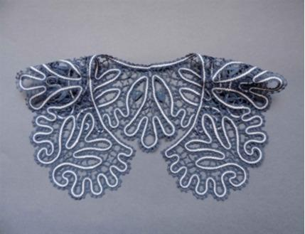 Amazing handmade lace collar.