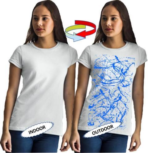 Güneşte renk değiştiren erkek t-shirt