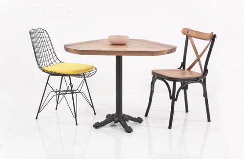 walnut cafe table