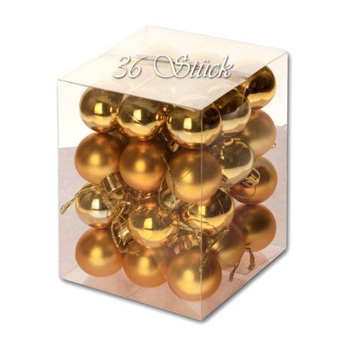 Weihnachtskugel 36 Stück 3cm Durchmesser Farbe: Gold