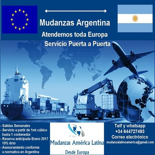Mudanzas hacia Argentina