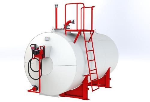 Fuel storage and dispensing tank