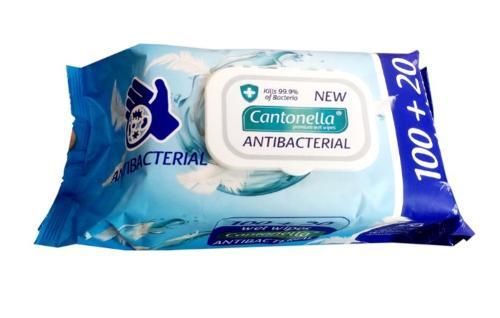 CANTONELLA Lingettes antibactériennes