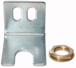 Mounting bracket with nut and washer