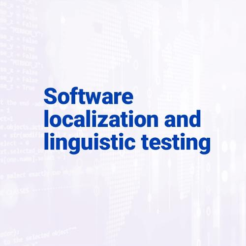 Software localization and linguistic testing