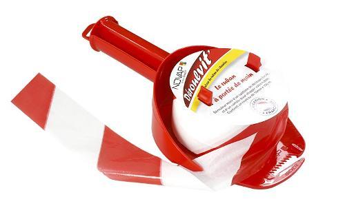 Déroulvit - dérouleur rouge avec ruban 50mm x 200m - 3048001
