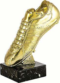 Bota Futbol Piedra artificial pintada en oro