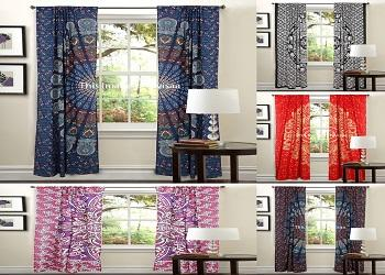 latest indian mandala curtains wall hanging window curtain