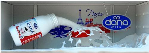 DANA UHT MILK in HDPE Plastic Bottles with cap