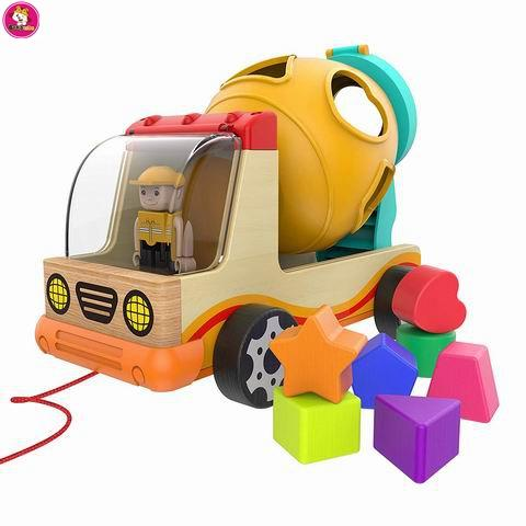 Wooden Shape Sorter Toys for Toddlers Learning Toys