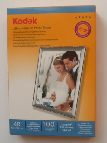 KODAK Inkjet Photo Paper 10x15cm 100 sheets Glossy