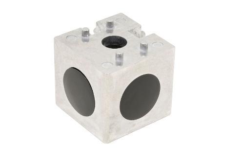 Würfelverbinder 10 45x45 2D, blank, Satz