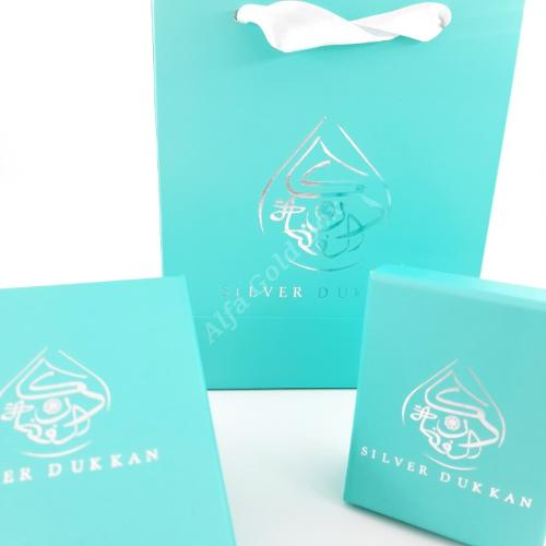 Light Blue & Silver Hot Stamp Printing