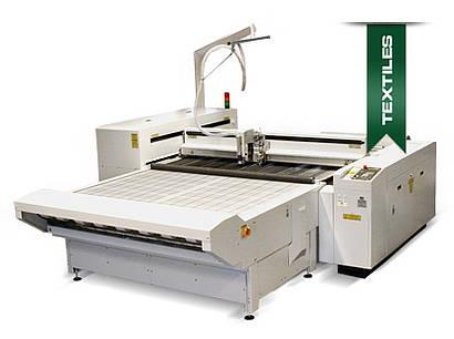 Laser cutting system for textiles