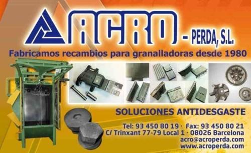 RECAMBIOS / REPUESTOS DE GRANALLADORAS