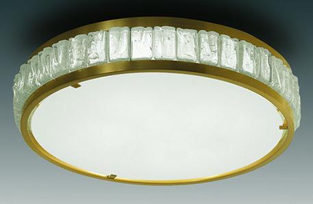 Round glass ceiling light