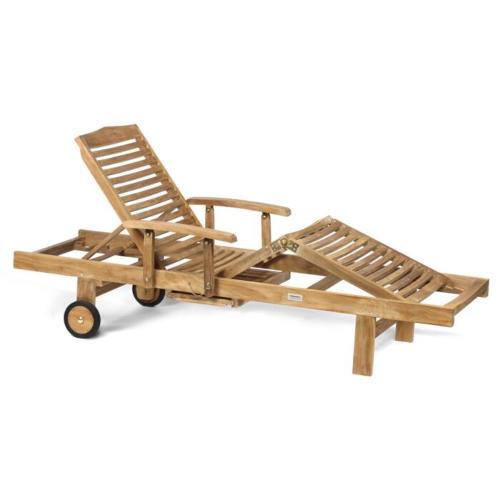 teak houten ligbed 1 persoon inklapbaar