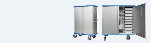 Modular cupboard trolleys