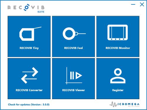 Recovib Suite Software