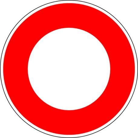 Panneau B0 Circulation Interdite