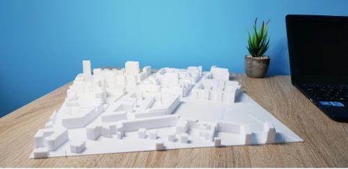 3D-Druck von großen Stadtmodellen und Wettbewerbsmodellen