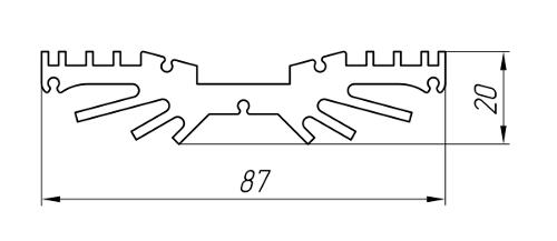 Aluminum Profile For Cooling Radiators Ат-876