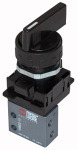 3/2-way mini valve, manual, Rotating lever, NC...