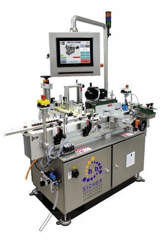 Vollautomatische Etikettierung zylindrischer Produkte VRM
